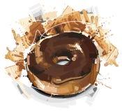 大巧克力多福饼 免版税库存照片