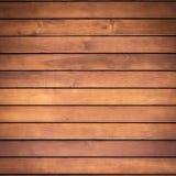 大布朗木板条墙壁纹理背景 免版税库存图片