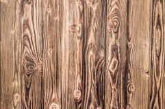 大布朗木板条墙壁纹理背景 免版税库存照片