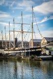 大帆船在布里斯托尔港口 免版税库存图片