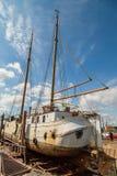大帆船在船坞 库存照片