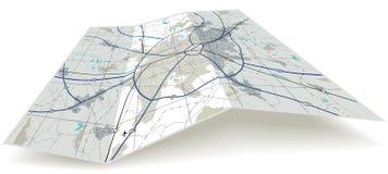 大幅折叠地图 向量例证