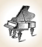 大平台钢琴葡萄酒 免版税库存图片