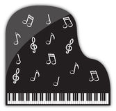 大平台钢琴音乐会装饰 库存照片