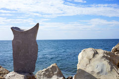 大平衡的石头 免版税库存照片