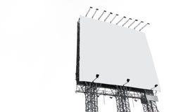 大广告牌空白白色 免版税库存图片