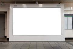 大广告牌 黑广告带领了tex的委员会空的空间 库存照片