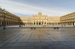大广场。 萨拉曼卡 免版税库存图片