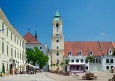 大广场和老城镇厅,布拉索夫 免版税图库摄影