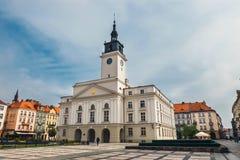大广场在卡利什在波兰 免版税库存图片