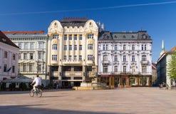 大广场在布拉索夫历史中心 库存照片
