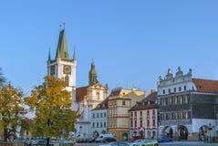 大广场在Litomerice,捷克共和国 免版税库存图片