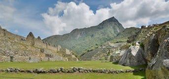 从大广场的看法 Machu Picchu 秘鲁 库存照片