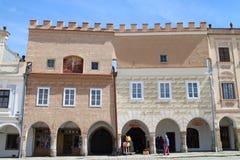 大广场的著名16世纪房子TelÄ 的 免版税图库摄影