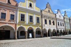 大广场的著名16世纪房子TelÄ 的 库存图片