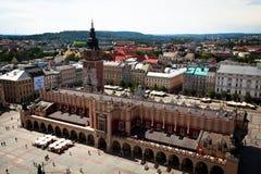 大广场-克拉科夫的历史中心 免版税库存照片
