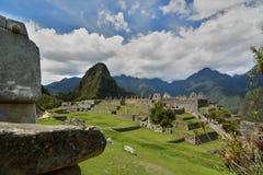 大广场 Machu Picchu 秘鲁 免版税图库摄影