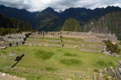 大广场 Machu Picchu 秘鲁 免版税库存照片