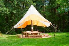 大开放室外帐篷 图库摄影