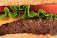 大开胃快餐汉堡包。 免版税库存照片