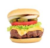 大开胃快餐汉堡包。 图库摄影