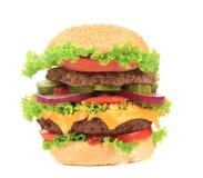 大开胃汉堡包。 库存图片