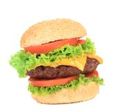 大开胃汉堡包。 免版税库存照片