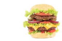 大开胃汉堡包 免版税库存照片