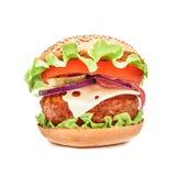 大开胃汉堡包 图库摄影