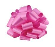 大弓保险开关粉红色丝带 图库摄影