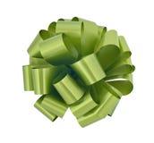 大弓保险开关绿色丝带 免版税库存照片
