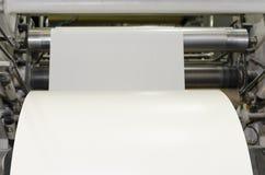 大张纸卷印刷品机器 免版税库存照片