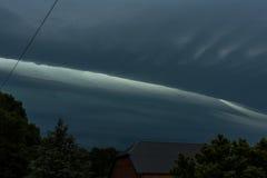 大强有力的暴风云和风雨如磐的天空 图库摄影