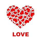 大心脏由一点心脏做成 库存照片