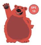 大快乐的熊 向量例证