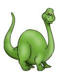 大恐龙绿色 皇族释放例证
