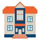 大房子 隔绝在白色Beckground 免版税库存照片