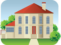 大房子 向量例证