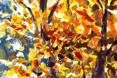 大抽象手工制造在帆布的特写镜头宏观油画 现代印象主义 Impasto艺术品 库存图片