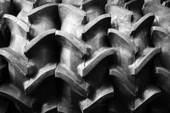 大拖拉机橡胶轮胎 库存图片