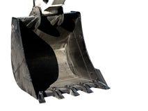 大挖掘机的金属瓢 免版税图库摄影