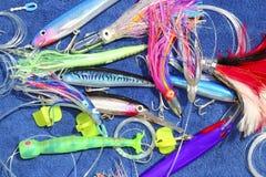 大捕鱼比赛异常分支诱使细索金枪鱼 免版税图库摄影