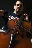 大提琴奏者 库存照片