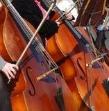 大提琴手 库存图片