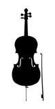 大提琴概述剪影 库存图片