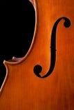 大提琴详细资料 免版税库存图片
