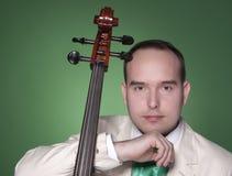 大提琴音乐家 免版税库存图片
