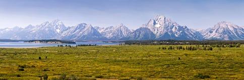 大提顿峰国家公园全景,怀俄明 库存图片