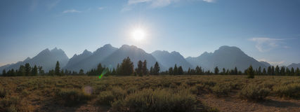 大提顿峰山脉在怀俄明 库存图片