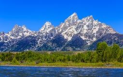 大提顿峰山风景 免版税库存图片